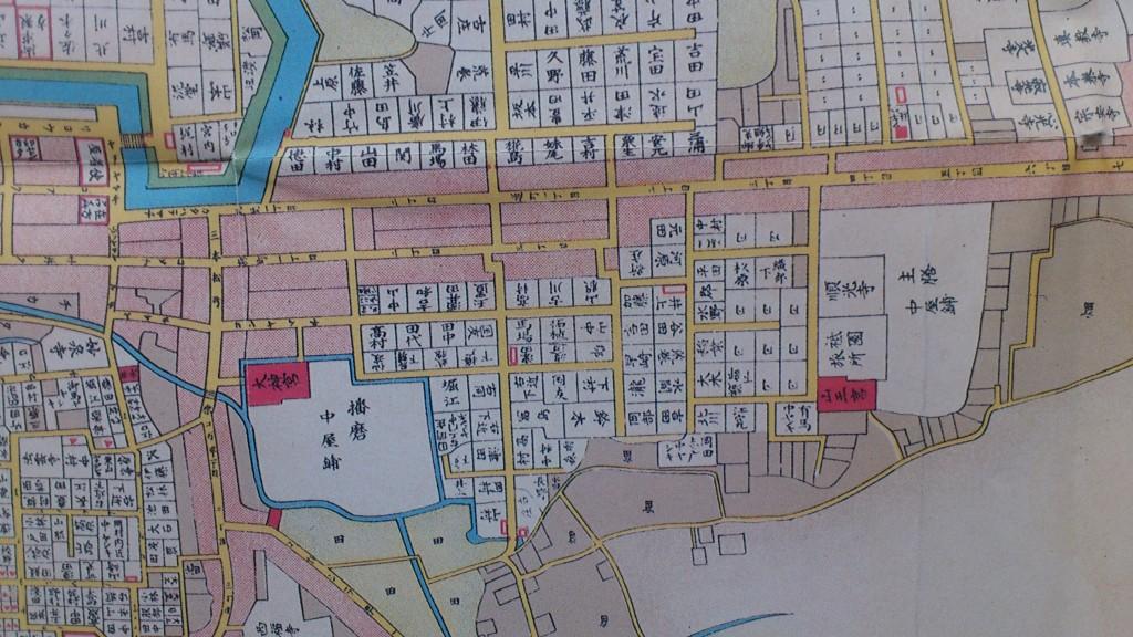久留米市史第2巻付図2天保時代久留米城下図