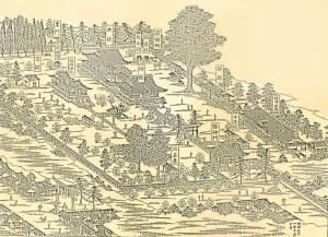 久留米日吉神社境内明治図